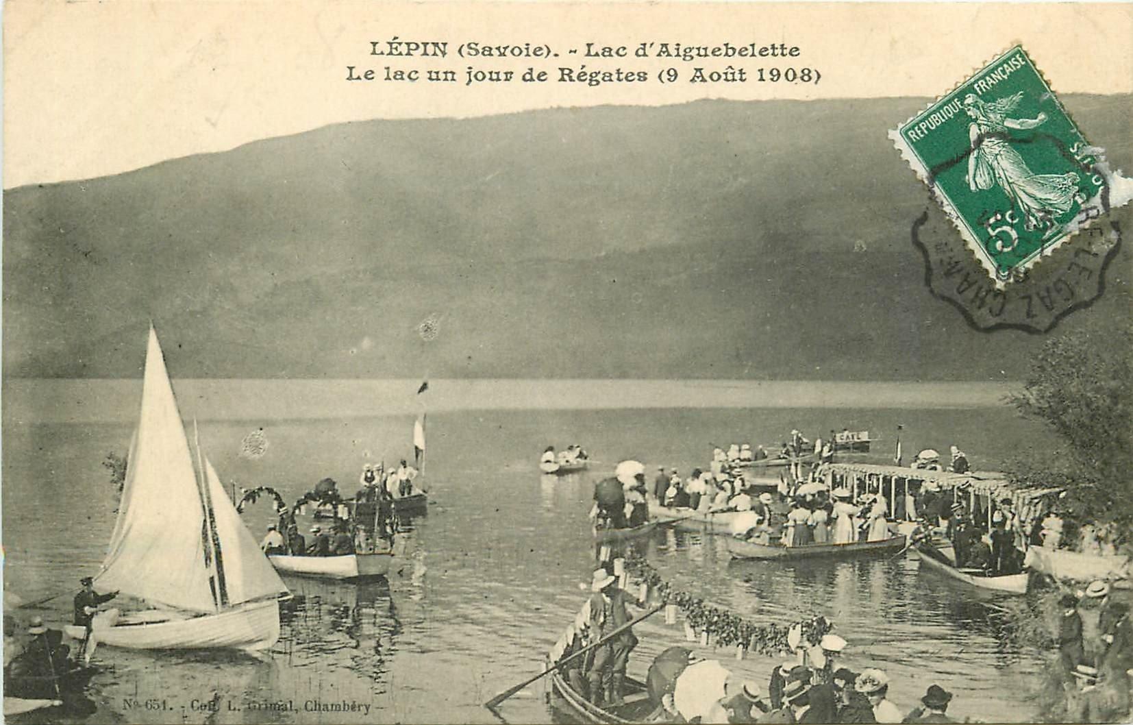 73 LEPIN. Jour de Régates sur Lac d'Aiguebelette 1908