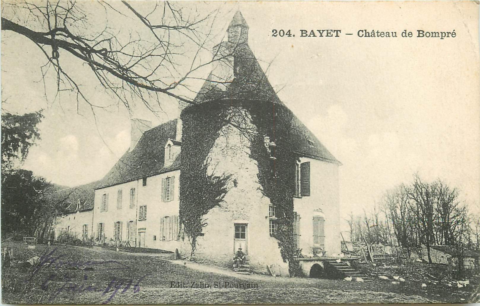 WW 03 BAYET. Château de Bompré 1916