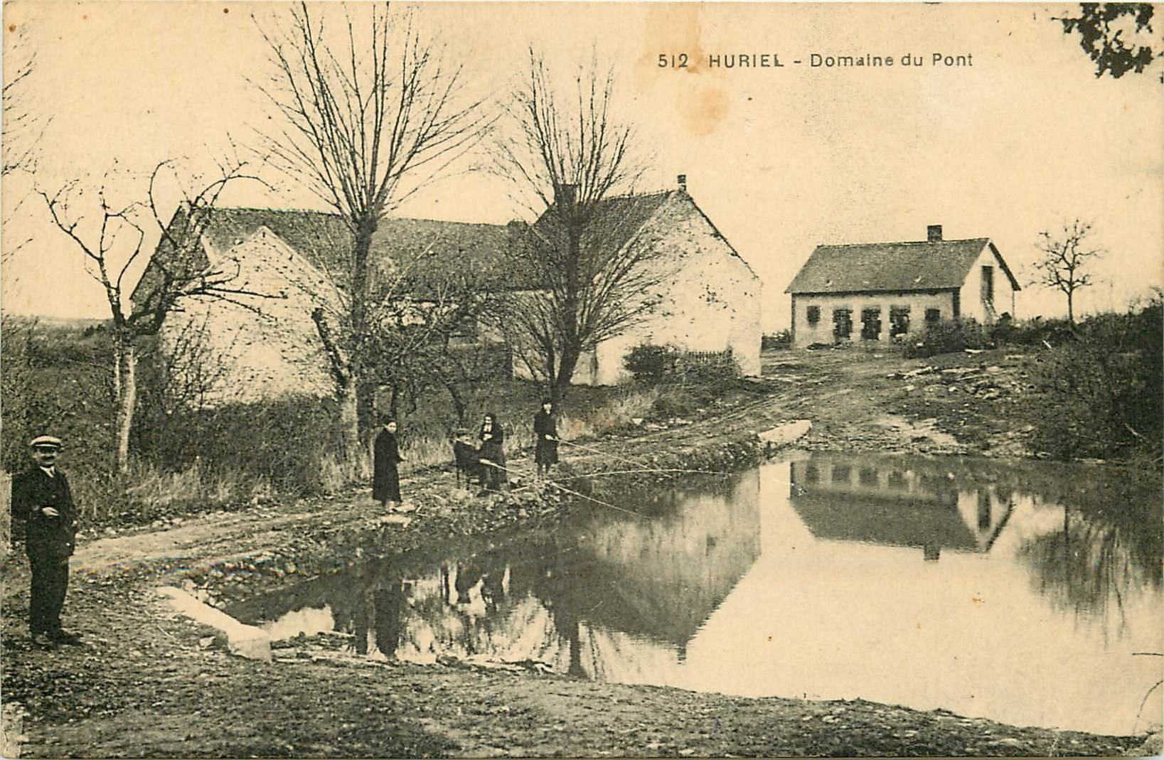 WW 03 HURIEL. Pêcheurs à l'Etang du Domaine du Pont 1948