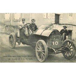 63 CIRCUIT D'AUVERGNE. L'Italien Cagno à la Coupe Gordon Bennett en 1906 voiture de course