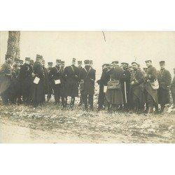 WW 55 VERDUN. Réunion Officiers et de Soldats militaires. Photo carte postale 1916