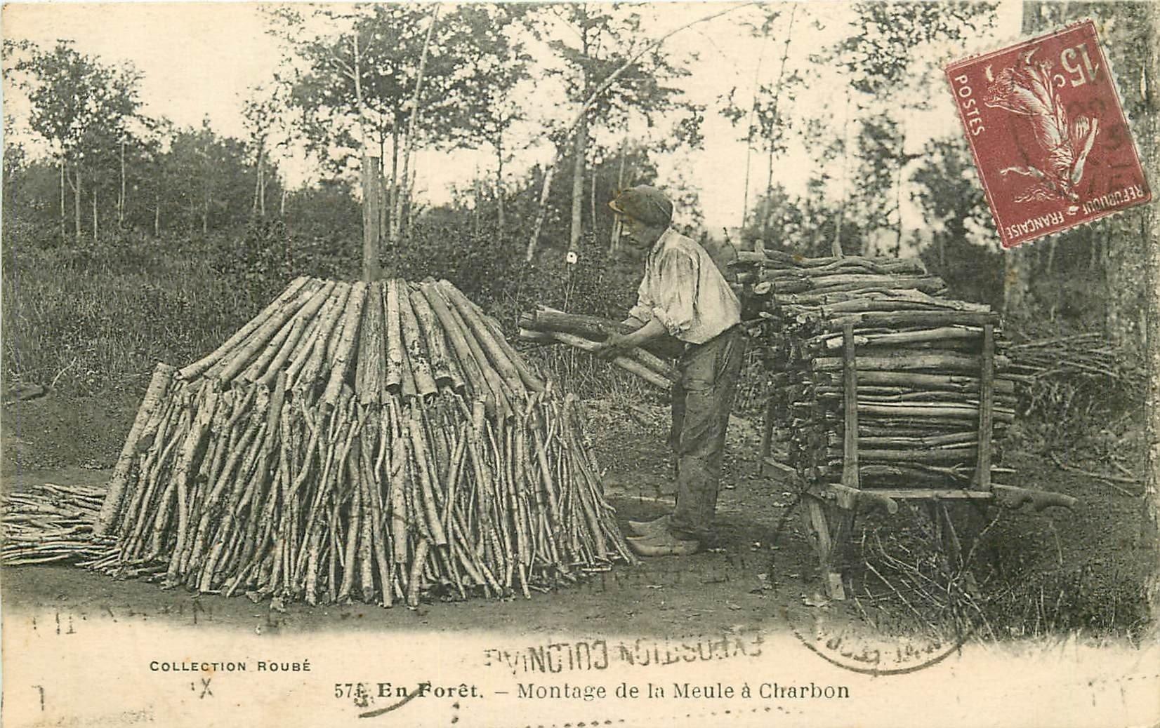 WW 58 EN FORÊT. Montage de la Meule à Charbon 1931