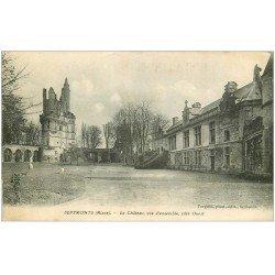 carte postale ancienne 02 SEPTMONTS. Donjon du Château. Evêques de Soissons