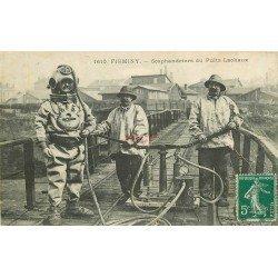 WW 42 FIRMINY. Scaphandrier ou Scaphandriers du Puits Lachaux 1911