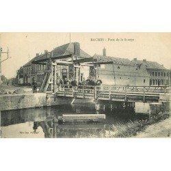 WW 59 RACHES. Pont mobile de la Scarpe devant le Café Restaurant
