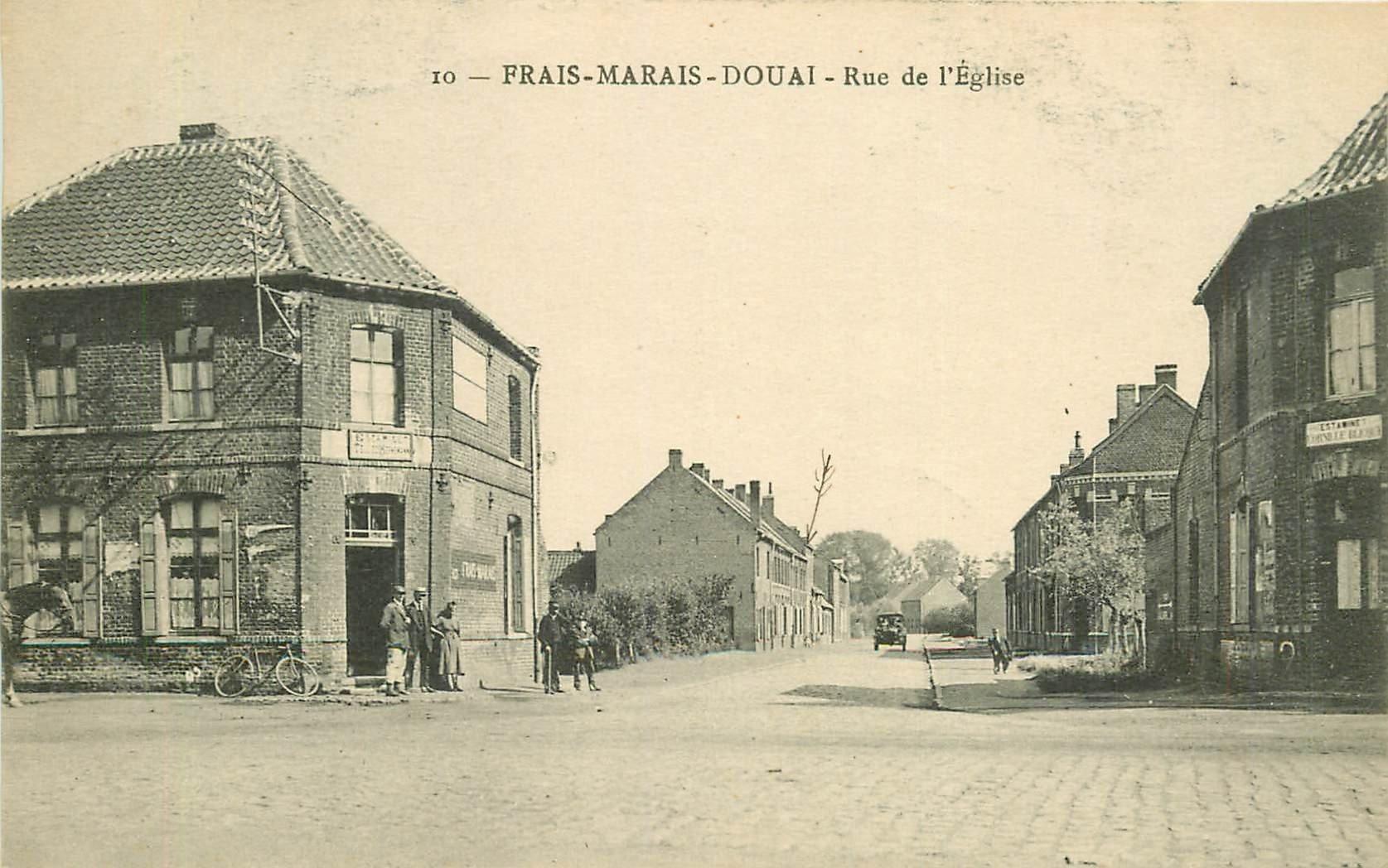 WW 59 FRAIS-MARAIS-DOUAI. Estaminets face à face rue de l'Eglise