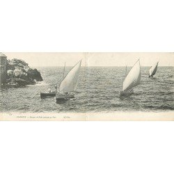 WW 64 BIARRITZ. Barques de Pêche rentrant au Port. Carte panoramique vers 1900