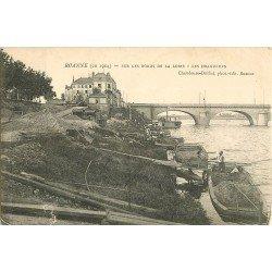 WW 42 ROANNE. Les Dragueurs de vase sur les bords de la Loire