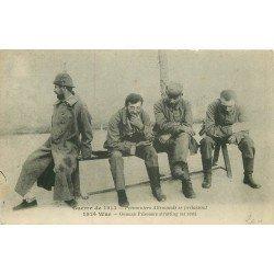 WW GUERRE 1914-18. Prisonniers Allemands se prélassant