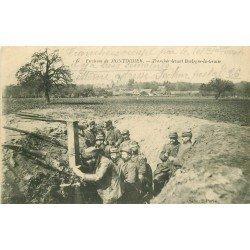 WW GUERRE 1914-18. Poilus dans la Tranchée devant Boulogne-la-Grasse avec périscope 1915