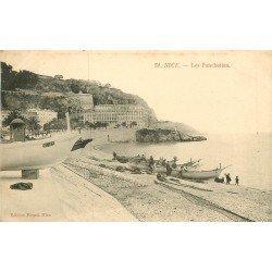 WW 06 NICE. Les Ponchettes avec Barques de Pêcheurs étalant leurs filets