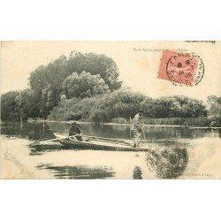 WW 77 LAGNY. Île de Quinquengrogne la Pêche en barge 1906