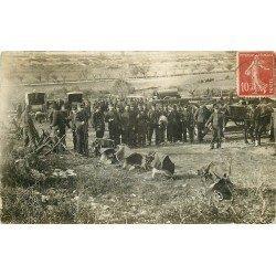 WW 34 LUNEL. Campement de Militaires avec Chevaux. Photo carte postale 1909 par Mailho