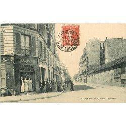 PARIS 15. Tabac Lemaresquier rue du Théâtre 1908