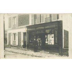 PARIS 02. Mercerie Faber 34 rue du Beauregard. Photo carte postale ancienne et rare