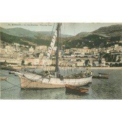 WW MONACO. La Condamine. Pêcheurs sur Bateau dans le Port