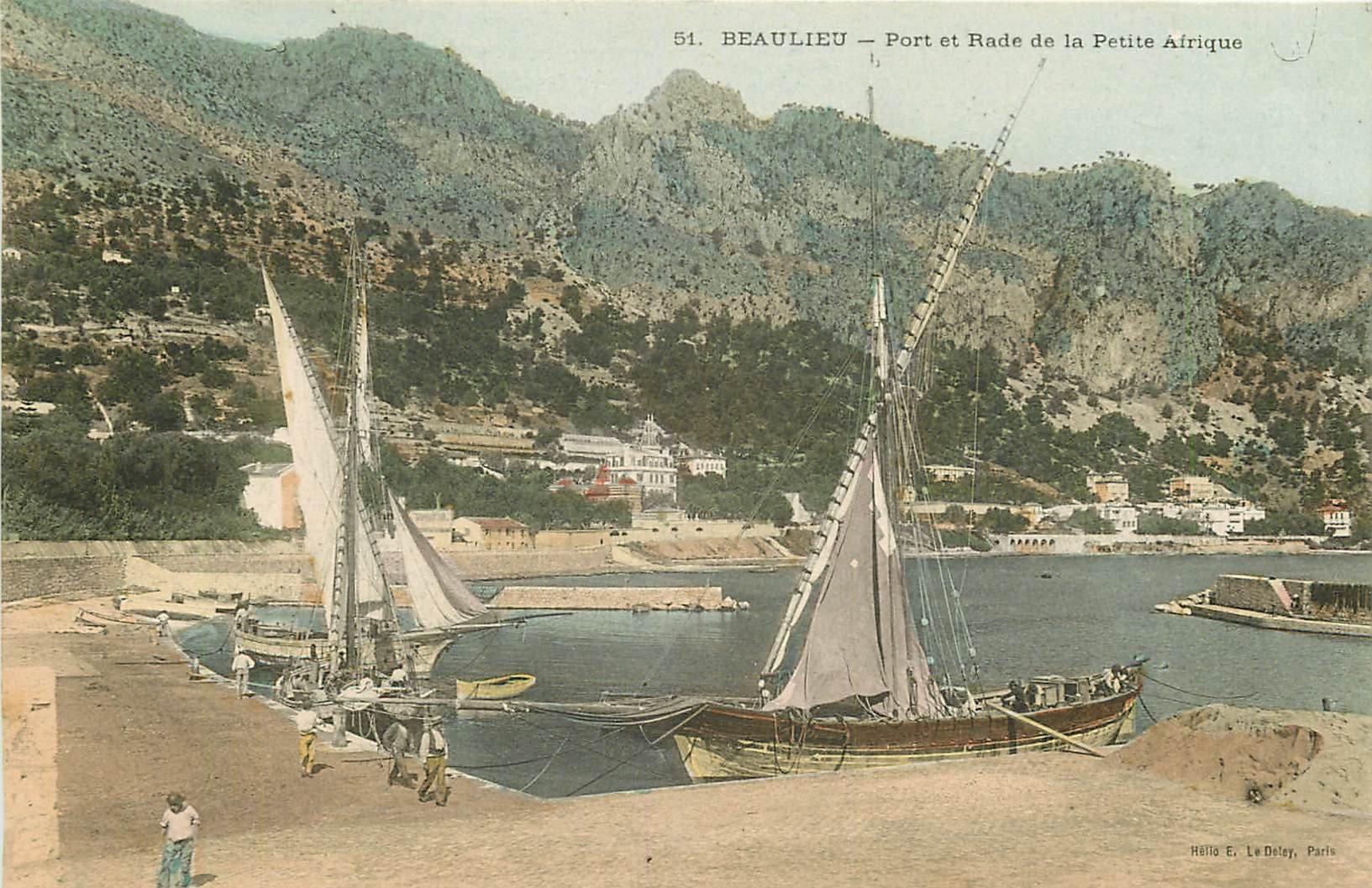 WW 06 BEAULIEU. Bateaux de Pêcheurs au Port dans la Rade de la Petite Afrique