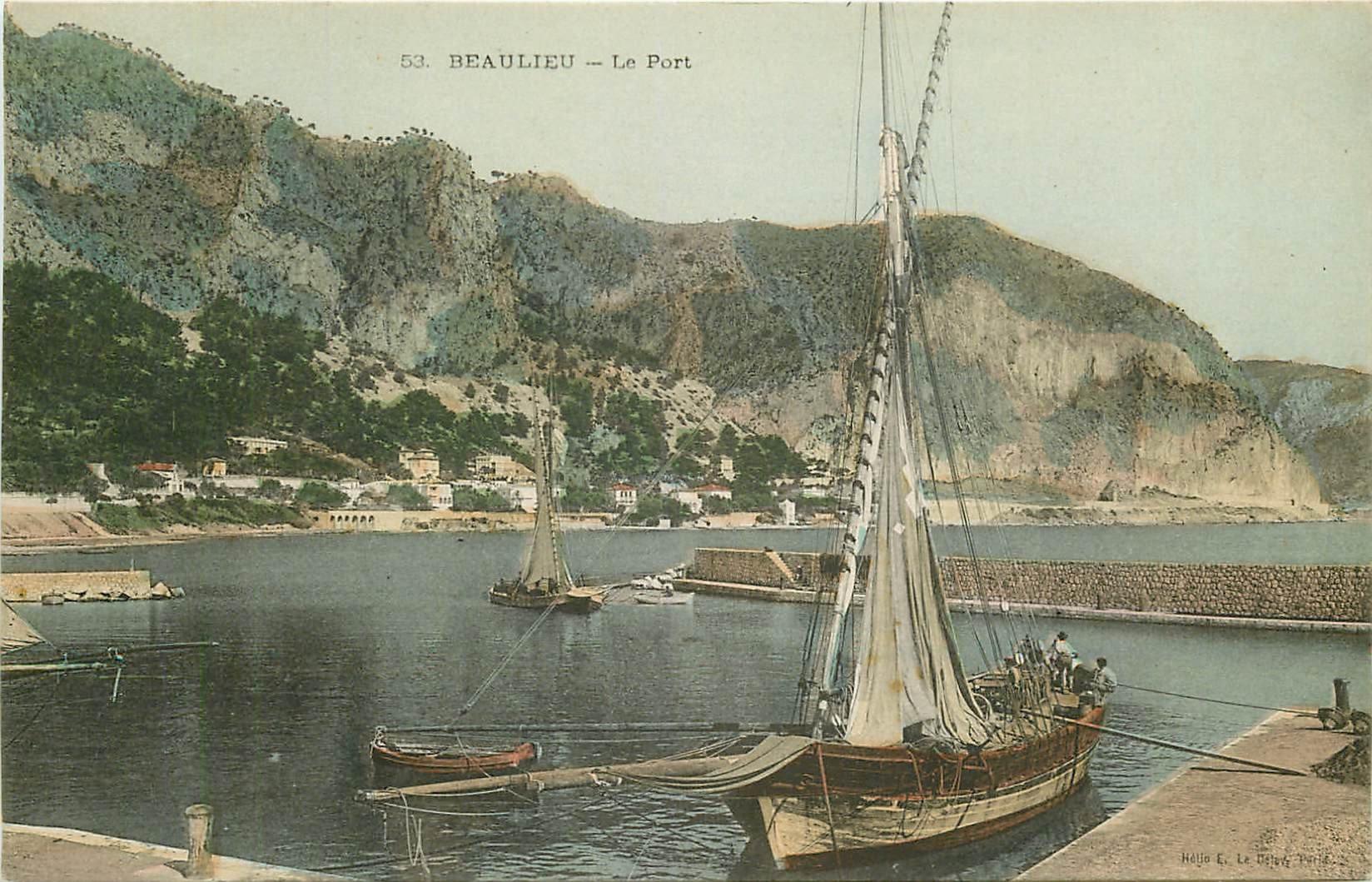 WW 06 BEAULIEU. Bateaux de Pêcheurs au Port. Métiers de la Mer