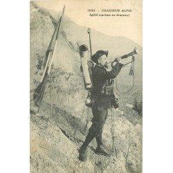 WW 38 CHASSEURS ALPINS. Appel suprême au Drapeau par Clairon 1918