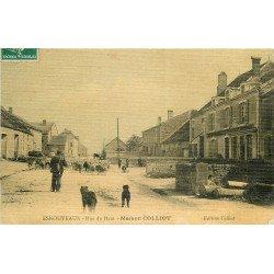 WW 52 ESNOUVEAUX. Berger et moutons devant la Maison Colliot rue du Haut 1910