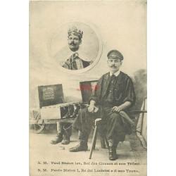 WW VIEUX METIERS. Paul Biston Roi des Cireurs et son Trône