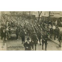 WW GUERRE 1914-18. Convoi de Prisonniers allemands dirigés sur l'Angleterre. Photo carte postale