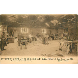 WW 44 NANTES. Ateliers outils mécaniques Entreprise de Menuiserie Lechat 3 Cale Cruzy