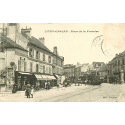 WW 93 LIVRY-GARGAN. Train Tramway Place de la Fontaine