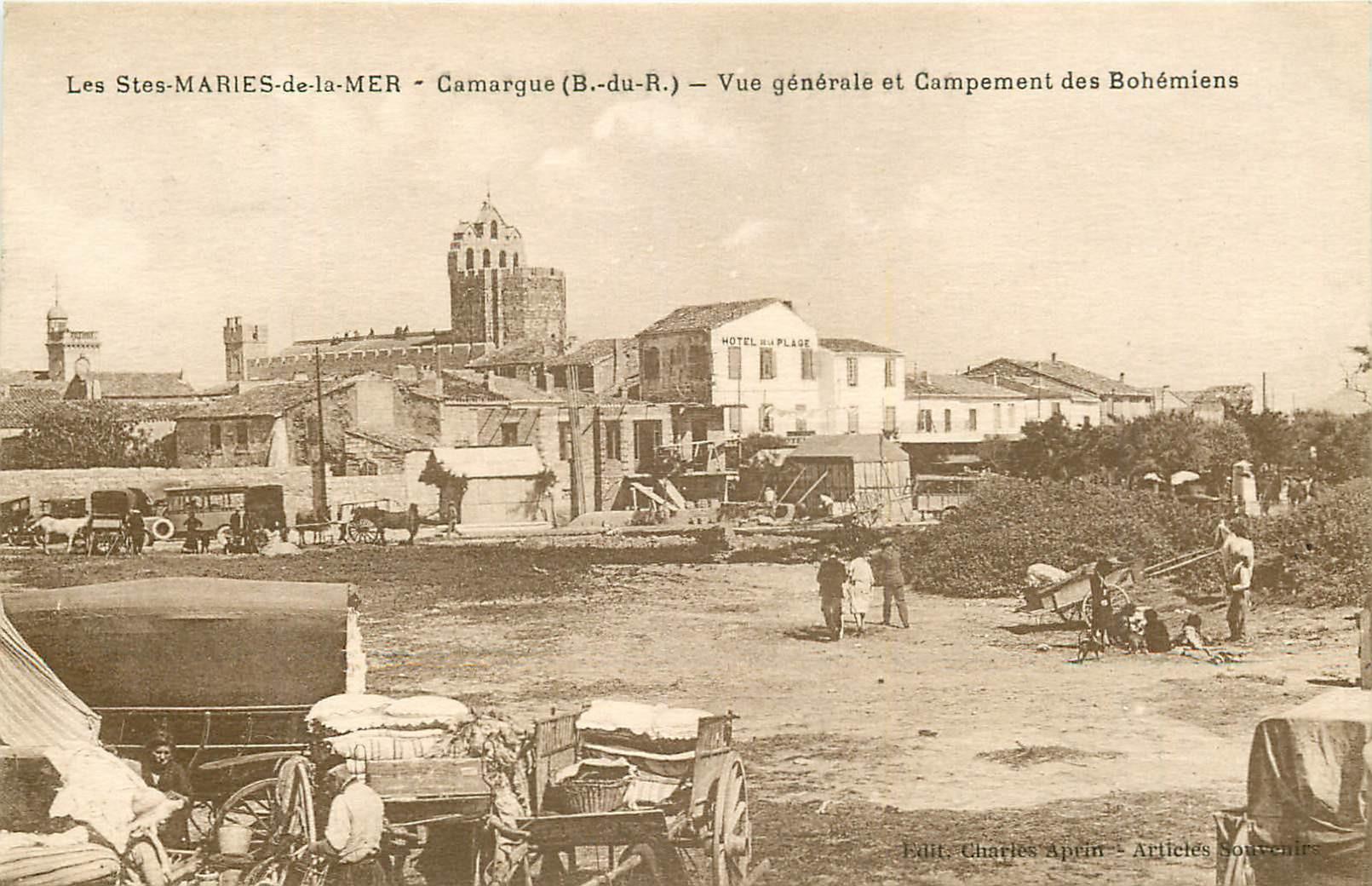 WW 13 LES SAINTES-MARIES-DE-LA-MER. Campement de Bohémiens 1930
