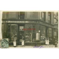 WW PARIS 06. Pâtisserie Braun 1 rue de Sèvres et Place de la Croix-Rouge. Photo Carte postale 1907