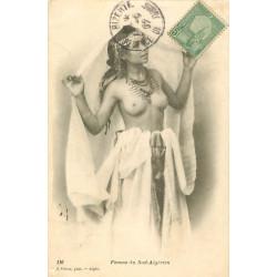 WW ALGERIE. Femme du Sud-Algérien aux seins nus 1907