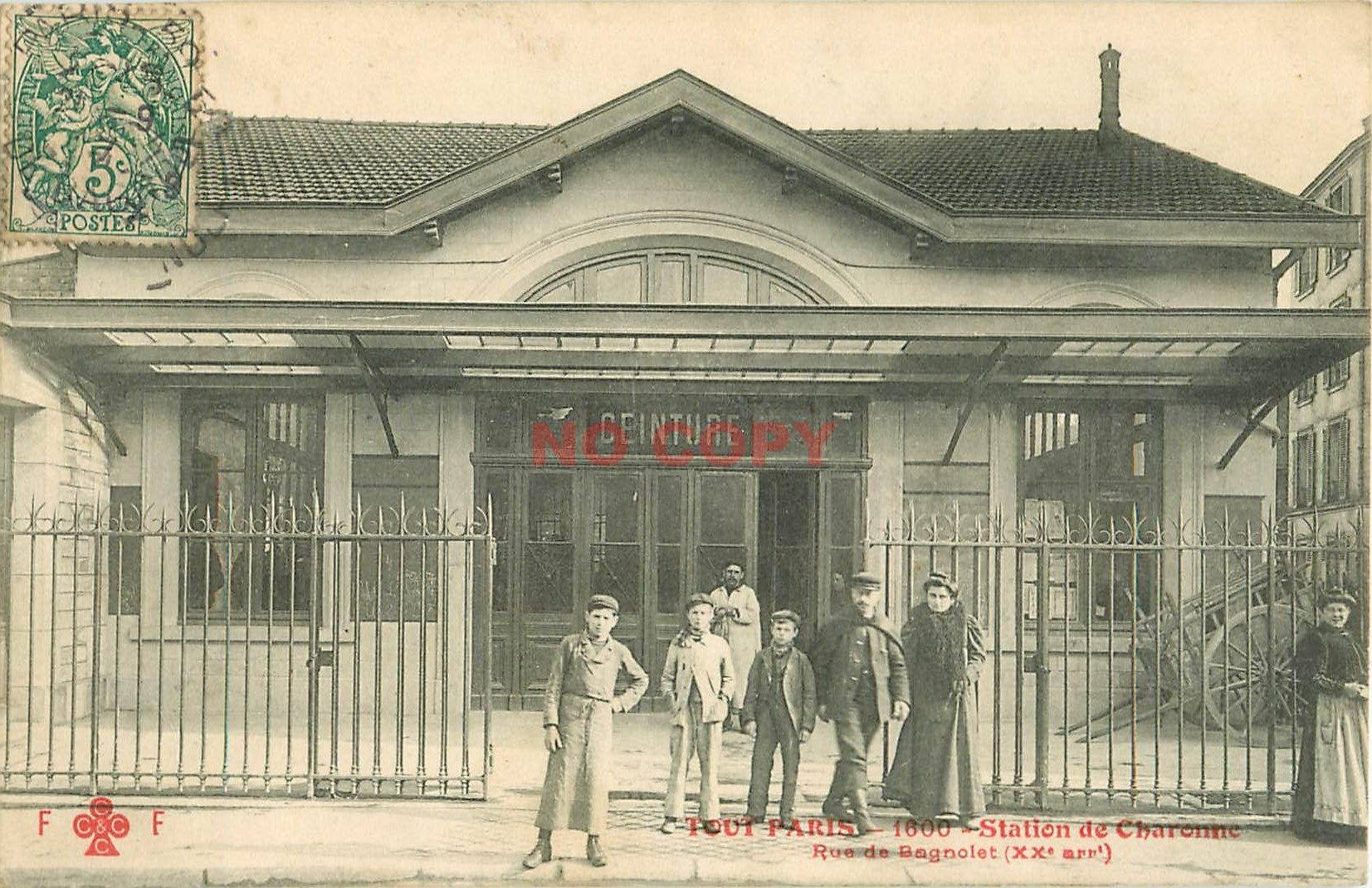WW PARIS XI. Station du métropolitain Charonne rue de Bagnolet. Gare Ceinture par Fleuri