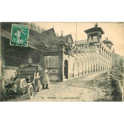 WW 76 FECAMP. Voiture décapotable devant le Châlet Miramar 1912