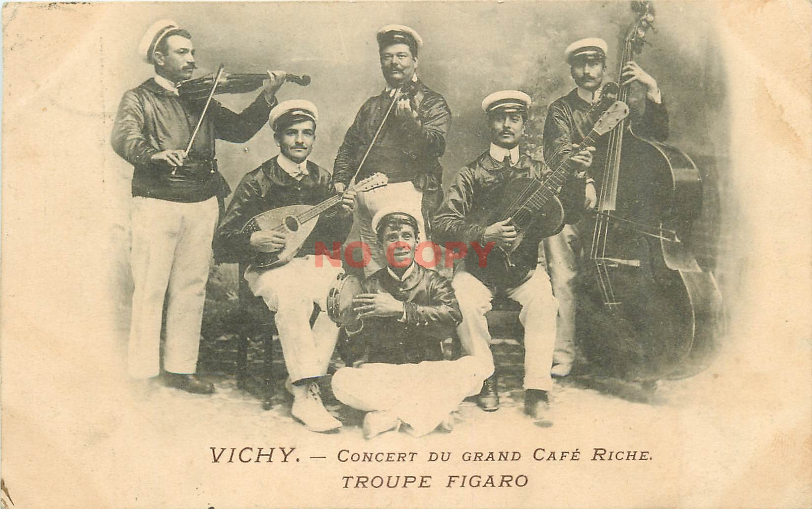 WW 03 VICHY. Concert du Grand Café Riche par la Troupe Figaro 1906