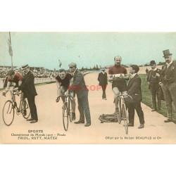 WW SPORT CYCLISME. Friol, Rutt et Mayer en Finale du Championnat du Monde en 1907