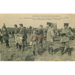 WW MILITAIRES GRANDES MANOEUVRES. Officiers Monténégrins et Chinois