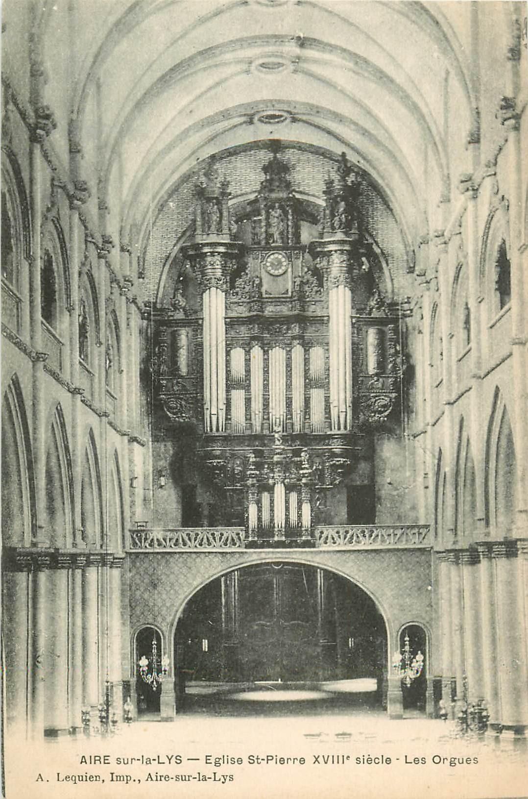 WW 62 AIRE-SUR-LYS. Les Orgues de l'Eglise Saint-Pierre
