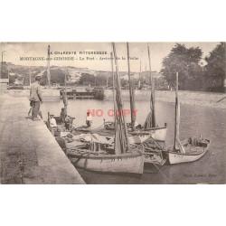 WW 17 MORTAGNE-SUR-GIRONDE. Arrivée de la Pêche au Port 1934