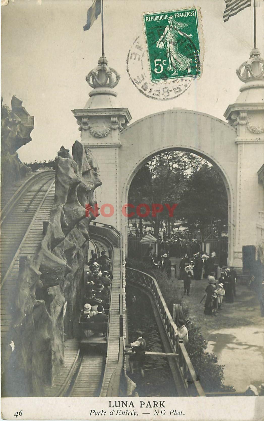 WW 92 NEUILLY-SUR-SEINE. Le manège aquatique à Luna Park 1910