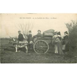 WW 13 EN PROVENCE. Le Retour de la Cueillette des Olives 1913