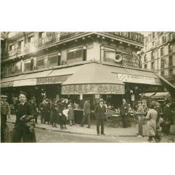 PARIS 01. Brasserie coin rues des Halles et de Rivioli. Photo carte postale ancienne