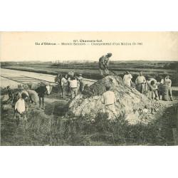 WW 17 ILE D'OLERON. Marais Salants. Chargement d'un Mulon de Sel