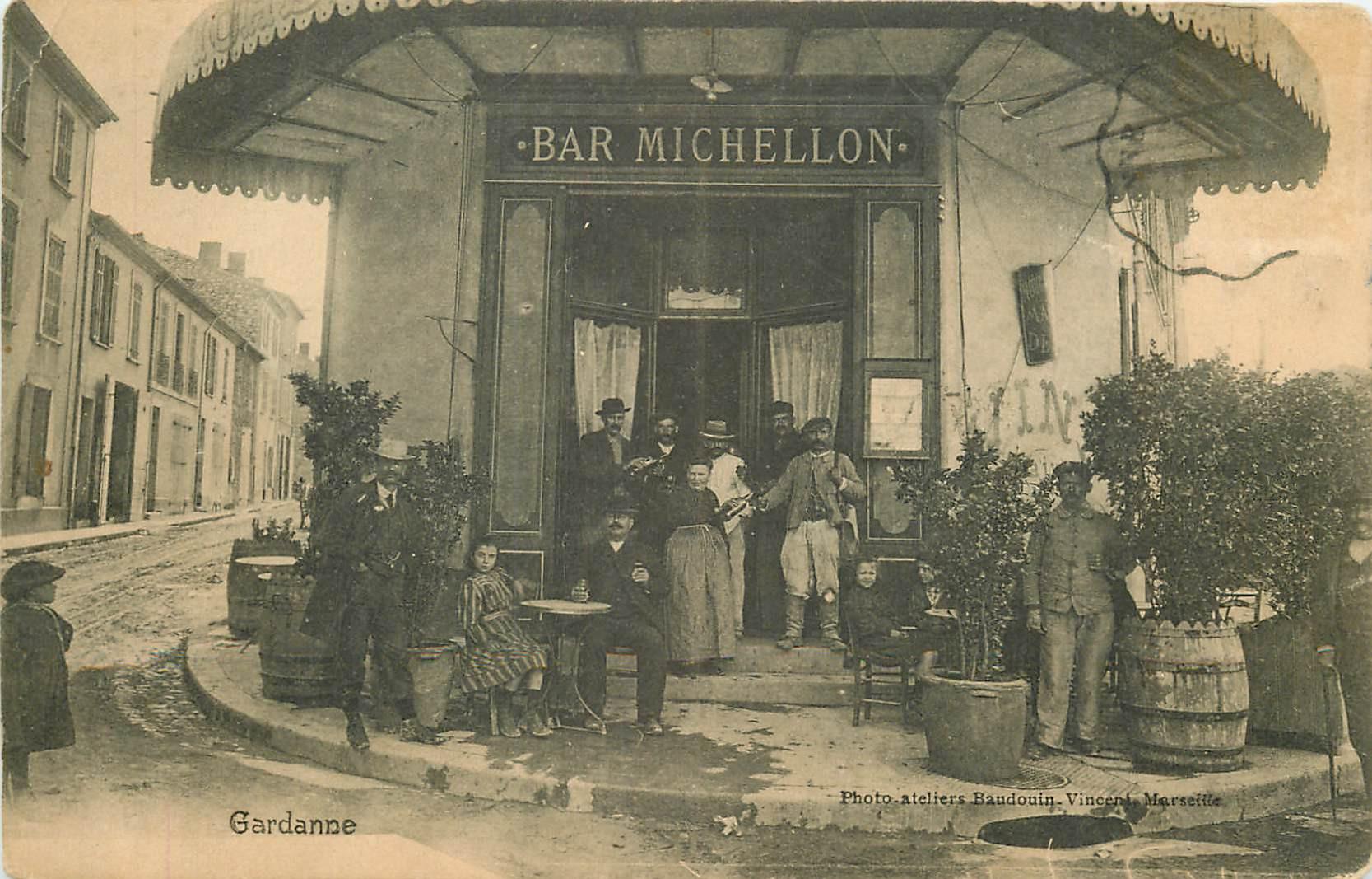 WW 13 GARDANNE. Le Bar Michellon 1917