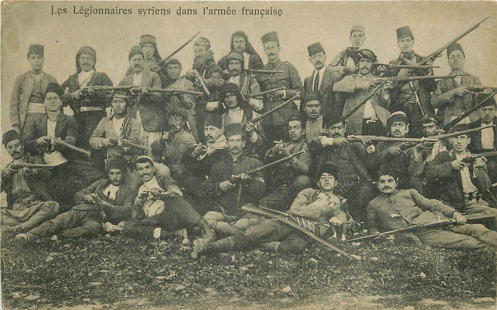 WW ALEP. Les Légionnaires Syriens dans l'Armée Française 1922 Légion étrangère