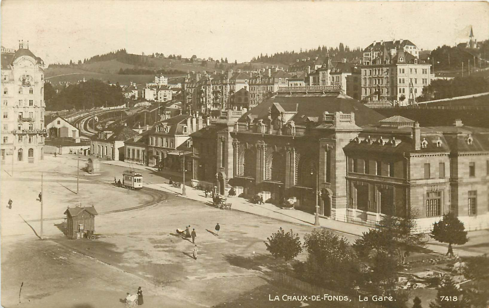 WW LA CHAUX-DE-FONDS. La Gare vers 1918