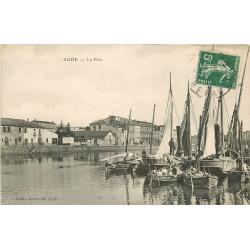 WW 34 AGDE. Barques et Bateaux de Pêcheurs au Port 1912