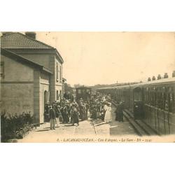 WW 33 LACANAU OCEAN. Train dans la Gare vers 1912