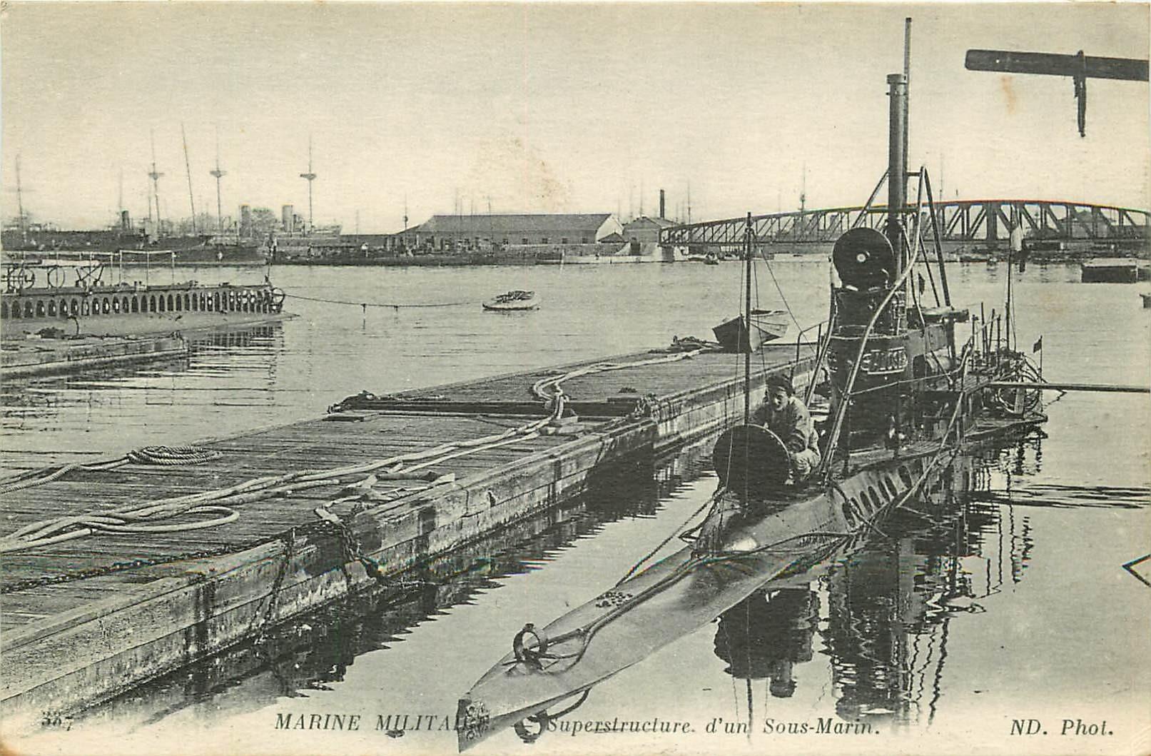 WW MARINE MILITAIRE. Superstructure d'un Sous-Marin