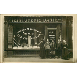 PARIS 05. Teinturerie Dante Clavel au 4 rue Dante. Photo carte postale