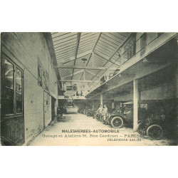 WW PARIS 17. Malesherbes Automobile Garage et Ateliers 91 rue Cardinet 1914